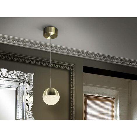 Schuller Sphere - Integrated LED Globe Ceiling Pendant Brass