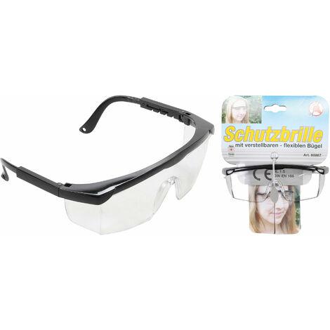 Profi Arbeitsbrille Schutzbrille Augenschutz Brille Vollsichtbrille Seitenschutz