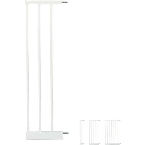 Schutzgitter Verlängerung L, clevere Türgitter Erweiterung, steckbarer Gitter Aufsatz Treppe, 20cm breit, weiß