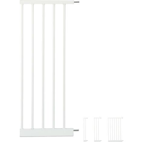 Schutzgitter Verlängerung XL, große Türgitter Erweiterung, steckbarer Gitter Aufsatz Treppe, 30 cm breit, weiß