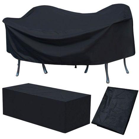 Schutzhülle Abdeckplane für Gartenmöbel Abdeckhaube Abdeckung 240 x 136 x 88 cm, schwarz