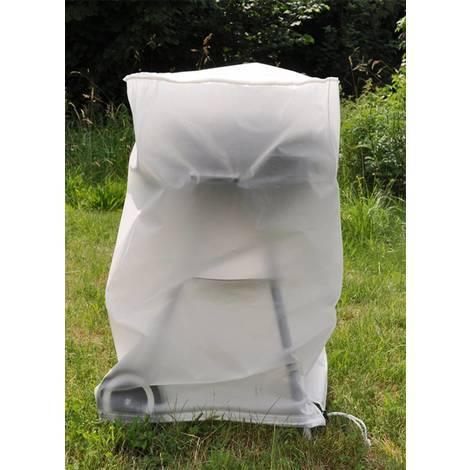 Schutzhülle Grill Schutzhaube für Rundgrill Garten Abdeckhaube Abdeckplane grau