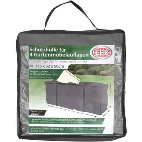 Schutzhülle für 4 Gartenmöbelauflagen anthrazit inkl. Tasche