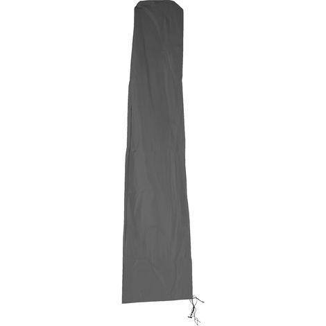 Schutzhülle HHG für Ampelschirm bis 4,3 m (3x3 m), Abdeckhülle Cover mit Reißverschluss ~ anthrazit