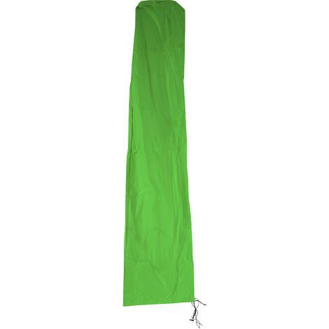 Schutzhülle HHG für Ampelschirm bis 4,3 m (3x3 m), Abdeckhülle Cover mit Reißverschluss ~ grün