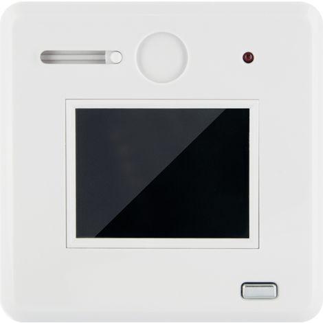 Schwaiger Türspion TS100 532 , digital und optisch weiß, mit 2,4 Zoll HD Farbbildschirm