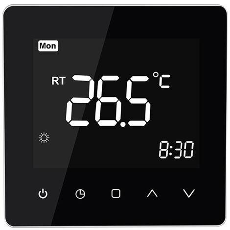 Schwarz Elektroheizung Smart-Thermostat