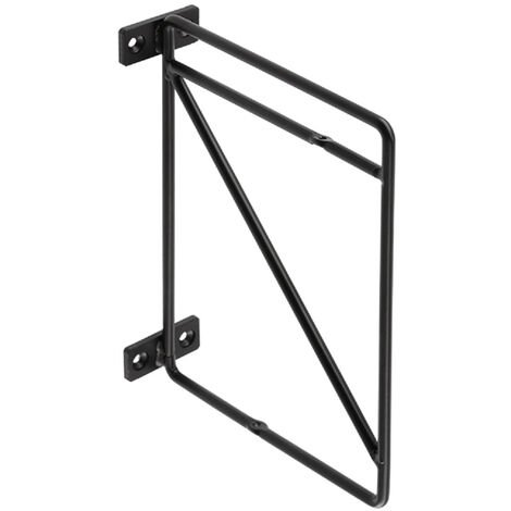 Schwarz matte Regalkonsole 2-Etagen Regalhalter Garderobenkonsole 214mm x 166mm
