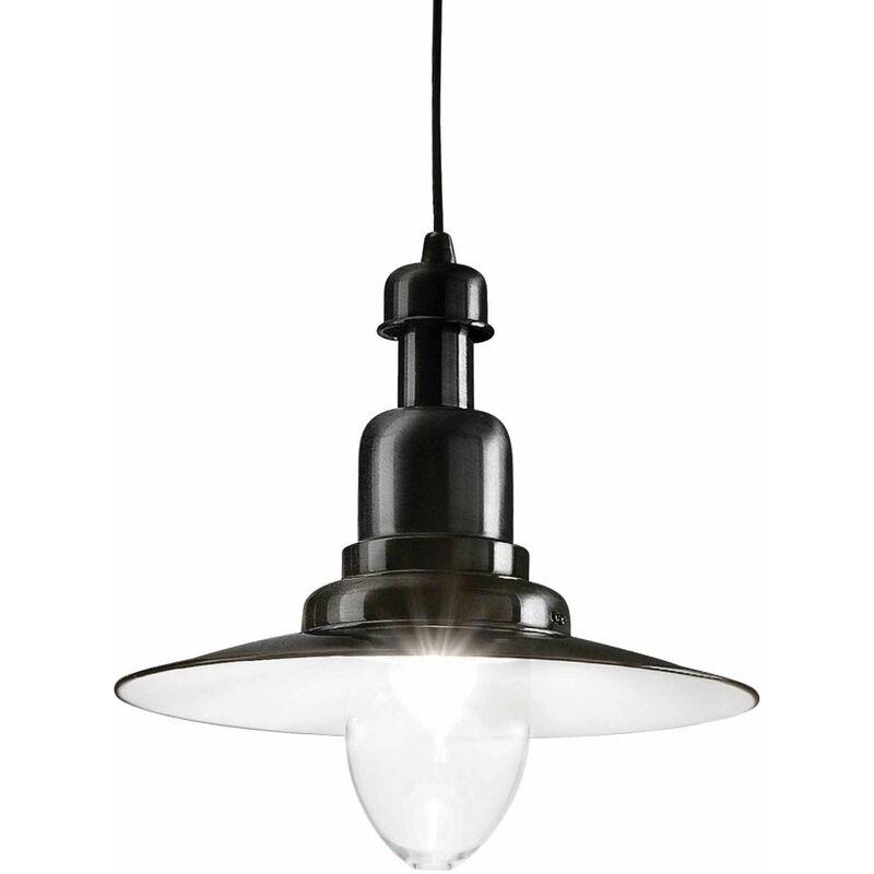 Schwarze Pendelleuchte FIORDI 1 Glühbirne
