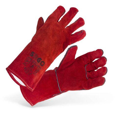 Schweißerhandschuhe Arbeitshandschuhe LEDer Schutzhandschuhe Typ A B Gr. 10 Xl