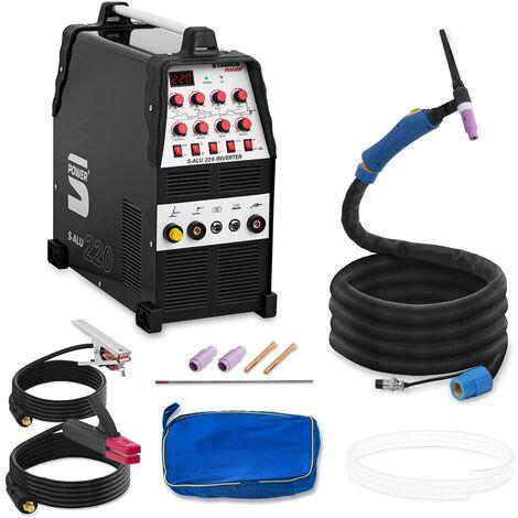 Schweißgerät Alu mma 220A LED Inverter Schutzgas E Hand Wig Ac Dc Tig Pulse Gas