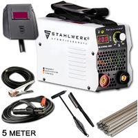 Schweißgerät STAHLWERK ARC 200 MD IGBT - MMA / E-Hand Schweißanlage mit echten 200 Ampere sehr kompakt, weiß, 5 Jahre Herstellergarantie*