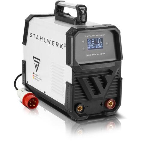 Schweißgerät STAHLWERK ARC 270 ST IGBT - DC MMA / E-Hand Welder mit 270 Ampere, kompakt, 7 Jahre Garantie