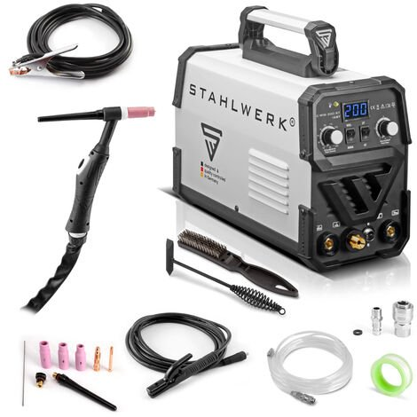 Schweißgerät STAHLWERK DC WIG 200 ST IGBT - Kombi Schweißanlage mit 200 Ampere und MMA E-Hand, 7 Jahre Garantie*