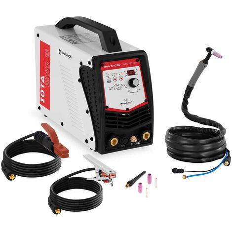 Schweißgerät Wig 200 Ampere Digital Puls Igbt Tig Dc Lift Hf E Hand 2T 4T