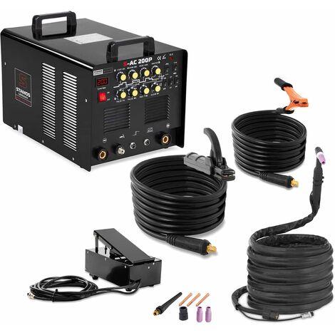 Schweißgerät WIG AC DC Puls 8m Kabel mmA HF Inverter 200 A 230 V Alu Werkzeug