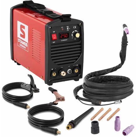 Schweißgerät Wig DC Profi Mosfet Inverter mma 250 A 4 M Kabel LED 60% DC Stamos