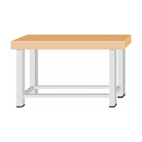 Schwerlast-Werkbank - Plattenbreite 1500 mm, ohne Unterbau - Plattenstärke 100