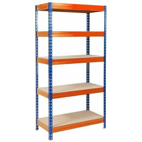 Schwerlastregal | Blau-Orange | Traglast bis 1500 kg | 8 Größen