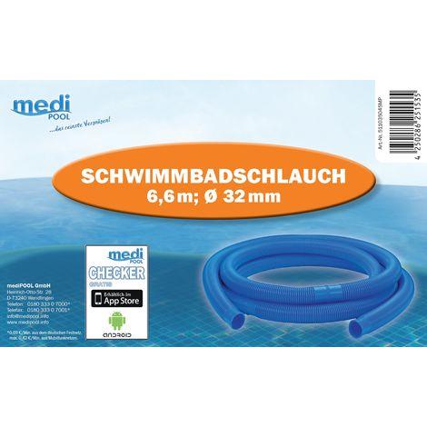 Schwimmbad Schlauch 32mm (5/4') 6,60 Meter (6 Stücke)