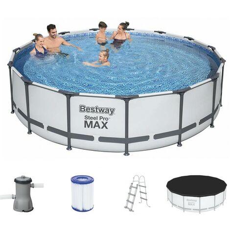 Schwimmbecken Steel Pro Max™ Pool | Ø 457x107cm | Pumpanlage |Filterkartusche| Set Swimming Pool Planschbecken