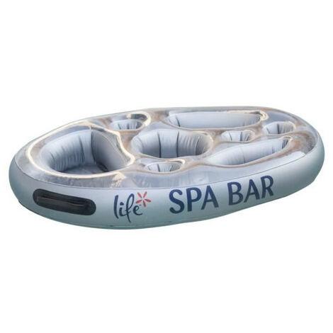 Schwimmende Bar für Spa oder Schwimmbad - Farbe SILBER