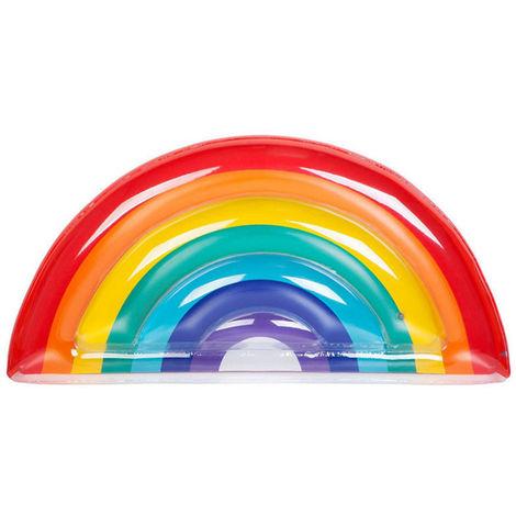 Schwimmreifen Schwimmring Regenbogen Schwimmhilfe Wasserspielzeug Luftmatratze