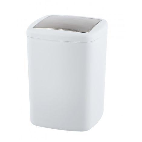 Schwingdeckel Mülleimer 6 L Abfalleimer Kosmetikeimer Schwingdeckeleimer Bad WC