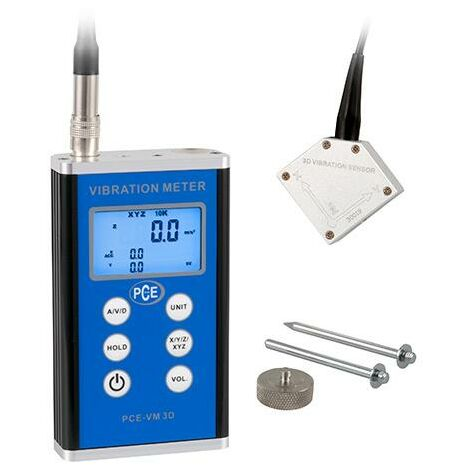 Schwingungsmessgerät PCE-VM 3D für Maschinen u. Anlagen von