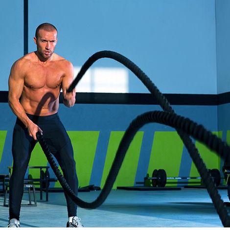 Schwungseil Trainingsseil Battle Rope Schlangenseil Sportseil Schlagseil für Sprung- Kletter- CrossFit-Training 1200x3.8cm