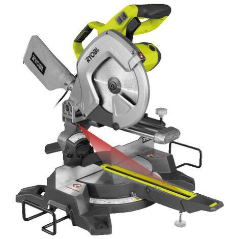Scie à coupe d'onglets radiale électrique RYOBI 2000W 254mm EMS254L