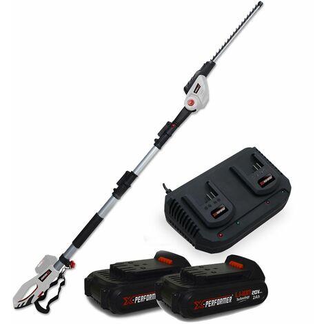 Scie à Ebrancher Taille Haies sur perche 20V Xperformer XP2PSTH20LI - Outil portatif -2 Batteries 2Ah et DOUBLE Chargeur inclus
