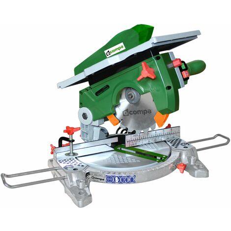 Scie à onglet pour bois, profilés en aluminium et PVC - 210mm. 1200 W COMPA