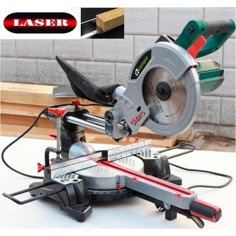 Scie à onglet radiale 210mm. Compa SLIDERS 210 capacité de coupe 300 x 60h. mm., 1200 W. poids super-léger