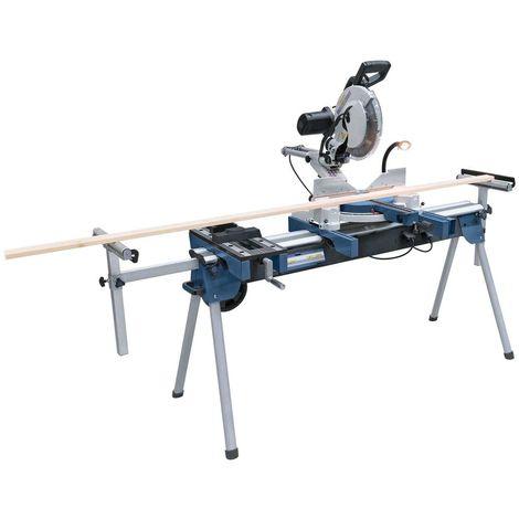 Scie à onglet radiale Holzprofi SRO305 et support professionnel KSU1560