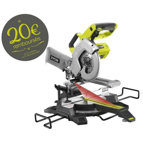 Scie à onglet radiale RYOBI 18V One Plus - sans batterie ni chargeur R18MS216-0