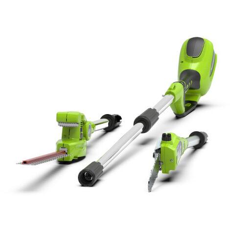 Scie à perche et taille-haie GREENWORKS Tools 40V - sans batterie ni chargeur- G40PSH