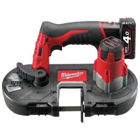 Scie à ruban MILWAUKEE M12 BS-402C 12V - 2 batteries 4.0 Ah - 1 chargeur 4933441805