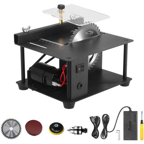 Scie A Table Mini Bureau Scie Cutter Machine De Coupe Electrique Avec Lame De Scie Meule Reglage De La Vitesse De 35 Mm Profondeur De Coupe