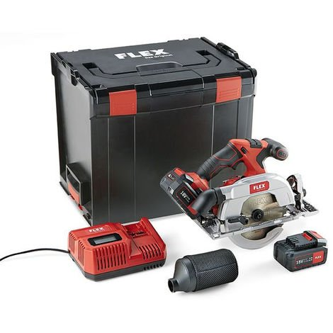 Scie circulaire 18V CS 62 18.0-EC/5.0 Set FLEX - batterie + chargeur + coffret - 454028