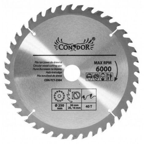 Scie circulaire 250 mm pour bois 40 dents