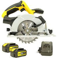 Scie circulaire Diam 150 mm sans fil 20 V VITOPOWER + 2 batteries 4.0 Ah + 1 Chargeur rapide