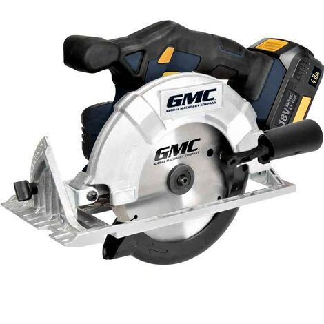 Scie circulaire electrique sans fil batterie 18V diametre 165 mm GMC 636575