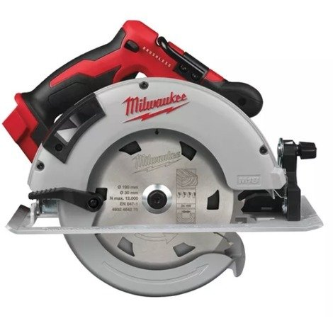 Scie circulaire MILWAUKEE M18 BLCS66-0X Brushless - Ø 190 mm - Sans batterie, ni chargeur - 4933464589