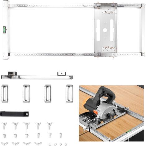 Scie Circulaire Multifonction Electrique Trimmer Machine Guide De Positionnement Outils De Planche A Decouper Routeur Travail Du Bois