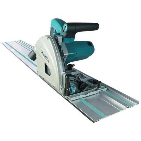 Scie circulaire plongeante MAKITA 1300W 165MM en coffret MAK-PAC + Rail de guidage 1400 mm offert - SP6000J