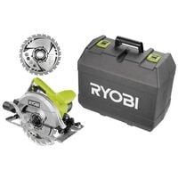 Scie circulaire RYOBI 1400W 66mm - 1 lame 24 dents - 1 coffret RCS1400-K2B