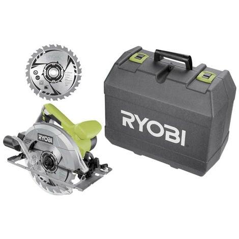 Scie circulaire RYOBI 1400W 66mm - 2 lame 20 dents - 1 coffret RCS1400-K2B