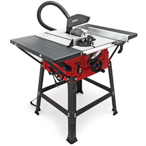 Scie circulaire sur table 2000 watts Angle 0-45° Butée parallèle réglable 5500 tr/min Coupe biaise