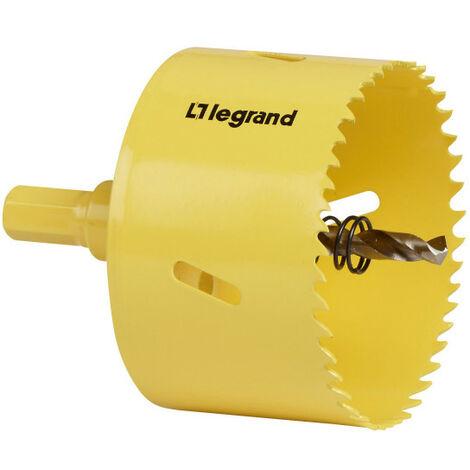 Scie cloche - Diamètre 80 mm - Avec forêt de centrage et ressort - Legrand